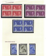 MISCELLANEOUS Small Collection Of Basutoland From 1937 Coronation, 1948 Wedding 10s U, 1961 Overprint Set To R1, Other P - Non Classés