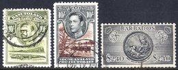 BRITISH COMMONWEALTH KGVI VFU From Basutoland 1938 Set, 1947 Royal Visit, Bechuanaland 1938 Set, 1947 Royal Visit, Barba - Unclassified