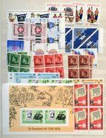 BRITISH COMMONWEALTH Stock Book Containing A Range Of Mainly 1970's Complete Sets UM With Some In Blocks Of Four, Anothe - Non Classés