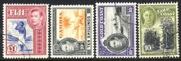 BRITISH COMMONWEALTH KGVI FIJI 1938 Set + Extras VFU. GAMBIA 1938 Set M. GOLD COAST 1938 & 1948 Defin Sets VFU. (71) Cat - Unclassified
