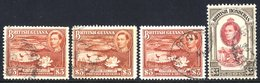 BRITISH COMMONWEALTH KGVI Definitives VFU British Guiana 1938-52 Set + Some Perf Variations, British Honduras 1938-47 Se - Non Classés