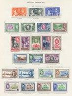 BRITISH GUIANA, BRITISH HONDURAS & BRITISH SOLOMON ISLANDS Complete. (108) Cat. £750 - Non Classés
