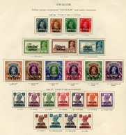 GWALIOR 1938-49 Set, 1944-48 Set, OFFICIAL 1940-43 Set. (41) Cat. £770 - Unclassified