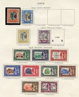 JAIPUR Incl. 1943-46 ¾a, 1a, 1r, 1947-48 Jubilee Set, 1932-46 Service Optd Set Etc. (20) Also JASDAN 1a Green. (23) Cat. - Unclassified