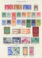 LEEWARD ISLANDS Complete + Extra Shades/papers Etc. (50) Cat. £1065 - Unclassified