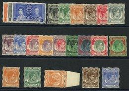 STRAITS SETTLEMENTS 1937 Coronation, 1937-41 Set Excl. 2c Die II. Cat. £490 - Non Classés