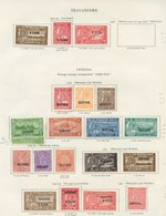 TRAVANCORE Range Of 48 Stamps Incl. 1937 Proclamation, 1939 Maharajas Birthday. OFFICIALS Incl. 1939 Birthday, 1942 Birt - Non Classés