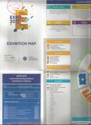 UNIVERSAL EXPO 2017 FUTURE ENERGY ASTANA KAZAKSTAN.Exhibition Map.Welcome To Georgia Stamp. - Universal Expositions
