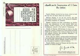 S. CUORE DI GESU' - PER IMPLORARE SU TE E SULLA PATRIA L'AIUTO DIVINO - EPOCA - APRIBILE - Mm. 105 X 150 - Religión & Esoterismo