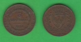 3 Centesimi 1826 Regno Sardegna Carlo Felice - Regional Coins