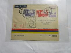 Lettre Recommandée Du Maroc Pour La France 1948 Aerograme 00333 - Covers & Documents