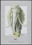 Voorhistorische Dieren Genummerd Uitgifte Getekend Gonz - Souvenir Cards