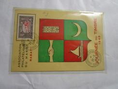 Carte Postale Journée Du Timbre Rabbat Maroc 1949 - Covers & Documents