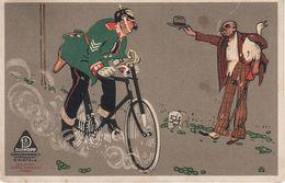 Künstlerkarte Werbekarte AK Dürkopp Dürkoppwerke Bielefeld Spezialität Kettenlose Räder Radsport Militaria Fahrrad - Radsport