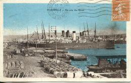 N°60474 -cpa Marseille -un Coin Des Quais- - Commerce