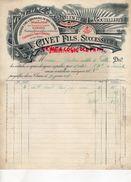 63- THIERS- RARE FACTURE A. CIVET DELIGNERE & FILS- MANUFACTURE COUTELLERIE CISEAUX COUTEAUX- 1895 - France