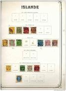 C 605++  -  Islande  :  Collection Avant 1930  ,  Cote 440 Euro ,  4 Pages à Voir - Collections, Lots & Séries