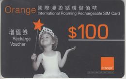 HONG KONG -  GSM & RECHARGE ***  ORANGE - CARD *** - Hong Kong