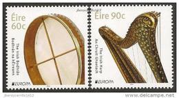 "IRLANDA/ IRELAND/ EIRE -  EUROPA 2014-TEMA ANUAL "" INSTRUMENTOS MUSICALES NACIONALES""- SERIE De 2 V. - Europa-CEPT"