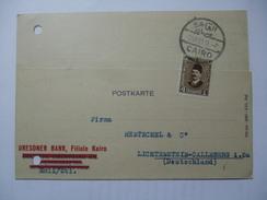 EGYPT - 1933 Postcard Cairo To Lichtenstein Callnberg - Égypte