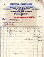 63- LA GRANDE ROULIERE PAR LA MONNERIE- RARE FACTURE VICTOR DOZOLME-COUTELLERIE AUX 2 LIONS- 1938 LION - Old Professions