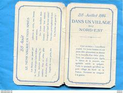 Guerre 14-18 -SUPERBE-carte à Système 28 Juillet 28 Aout 1914-un Village Avant Et Après Passage Des Boches - War 1914-18