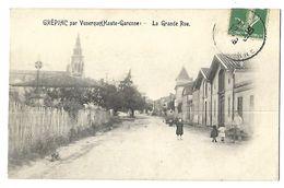 31 GREPIAC PRES DE VENERQUE LA GRANDE RUE 1909 CPA 2 SCANS - France