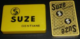 Rare Vintage Jeu De Cartes SUZE Gentiane NEUF & Sa Boite Plastique Vabé Porto Real Carpano - 32 Cartes