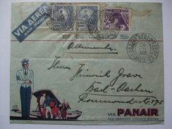 BRAZIL - 1935 - Panair Cover - Bahia Brazil To Aachen Germany - Brasil