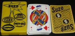 Rare Vintage Jeu De Cartes SUZE Gentiane En Boite Plastique Vabé Porto Real Carpano - 32 Cards