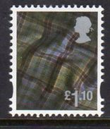 GB Scotland 2003-17 £1.10 Tartan Cartor Regional Country, With Border, MNH (SG S142) - Regional Issues