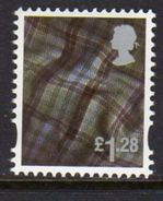 GB Scotland 2003-17 £1.28 Tartan Cartor Regional Country, With Border, MNH (SG S143) - Regional Issues