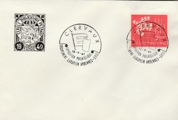 1961 Luxembourg FDC EUROPA By CIrcle Philatelique Petagne,   SPECIAL Pmk CLERVAUX PHILATELIC EXHIBITION Cover Stamps - FDC