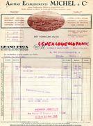 73 - LES ECHELLES - BELLE FACTURE ETS. MICHEL & CIE- SIEGEL & STOCKMAN- ECRINS BIJOUTERIE-ORFEVRERIE-COUTELLERIE-1938 - France