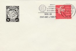 1961 Luxembourg EUROPA DAY,  MAKE The UNITED STATES OF EUROPE EVENT COVER Stamps European Community - Europa-CEPT