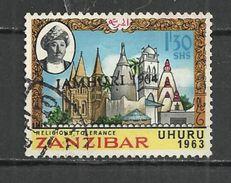 ZANZIBAR 1964 - RELIGIOUS TOLERANCE OVERPRINTED - POSTALLY USED OBLITERE GESTEMPELT USADO - Zanzibar (1963-1968)