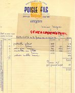 18- BOURGES- FACTURE POISLE FILS- BEAUJOIN-  CHAUSSURES -12 AVENUE DES PRES LE ROI- 1952 - Textile & Clothing