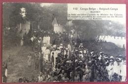CONGO BELGA BASOKO FOLLA IN ATTESA DEL MINISTRO DELLE COLONIE VIAGGIATA IL12/3/1923 - Belgique