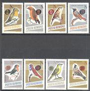 Roumanie: Yvert N° 2211/2218**; MNH; Oiseaux - 1948-.... Republics