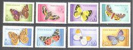 Roumanie: Yvert N° 2468/2475**; MNH; Papillons - 1948-.... Republics