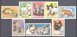 Roumanie: Yvert N° 2110/2118**; MNH; Chats; Cats - 1948-.... Republics