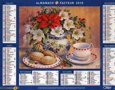 Calendrier Almanach La Poste PTT 2010 Peinture Aquarelle Tableau Trisha Hardwick Gourmandises De Noël - Calendars