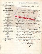 31- TOULOUSE- RARE LETTRE MANUSCRITE SIGNEE H. MURATET-R. DUBOIS- MANUFACTURE USTENSILES MENAGE-63 RUE DENFERT ROCHEREAU - Old Professions