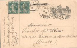 Carte Lettre De Franchise Militaire, Utilisée Par Un Civil, Donc Affranchie - 23 03 1915 - Marcophilie (Lettres)