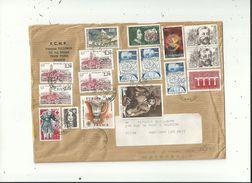 """1LR Affranchie Avec 17 Timbres """"divers """"   Pour 23.50fr    Le 27/01/1995..........à Voir - 1961-...."""