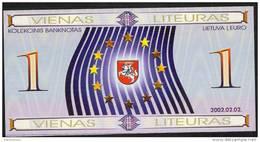 LITUANIE  NLP    1   LITEURAS   2002  For Collectors   UNC. - Lithuania