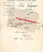 81- ALBI- RARE LETTRE MANUSCRITE SIGNEE ELIE SEGUIER- TAILLANDERIE COUTELLERIE-CISEAUX POUR LA VIGNE-AGRICULTURE-1914 - Old Professions
