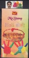 'Holi' Festival Of Colours, My Stamp 2017, Hand, Snak Food Basket, Culture, - Celebrations