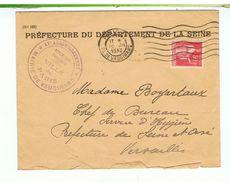 ENVELOPPE TIMBRÉE-1932-PREFECTURE DE LA SEINE-TAMPONS ET CACHETS-N° 101- - Autres