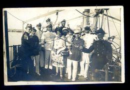 Cpa Carte Photo à Port Saïd Réception à Bord D'un Navire ( Située Au Dos )   SEP17- 89 - Port Said
